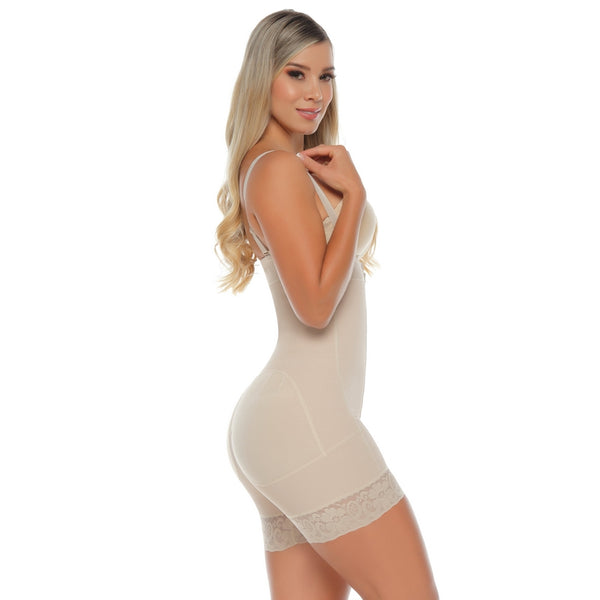 Colombian 7004 Invisible Short & Abdomen Control Body Beige