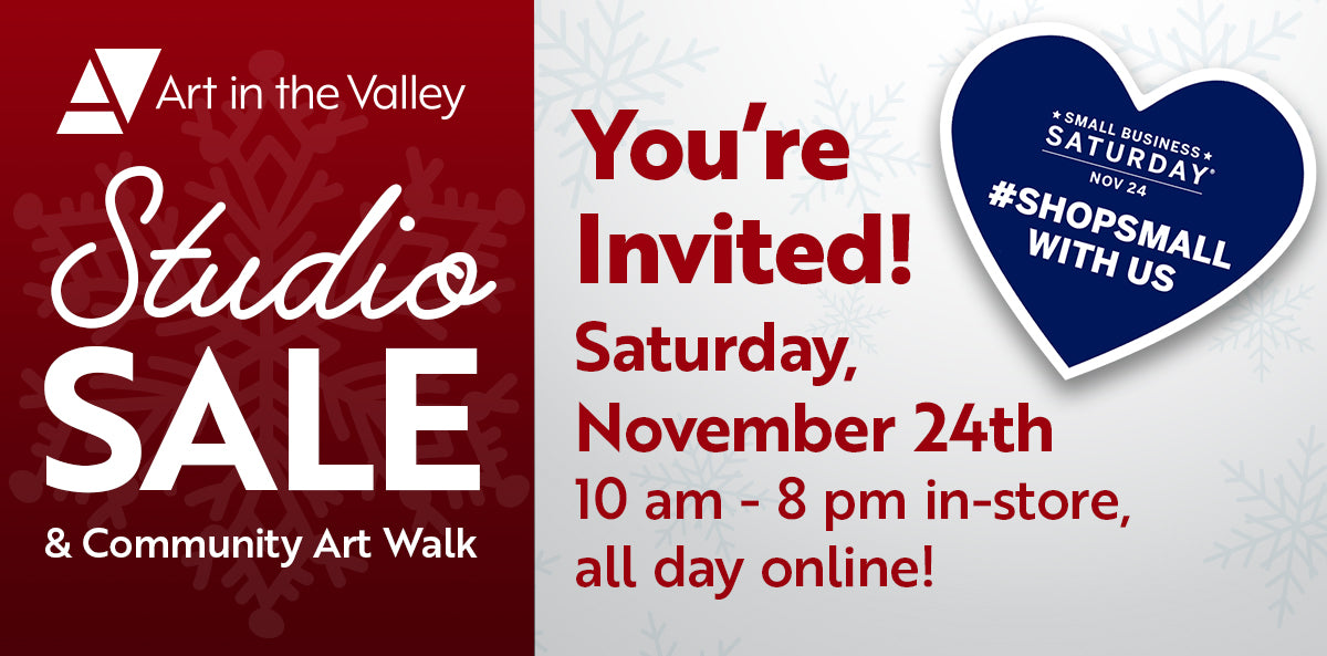 Studio Sale and Community Art Walk on November 24th