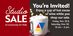 Studio Sale & Community Art Walk on Black Friday & Small Business Saturday