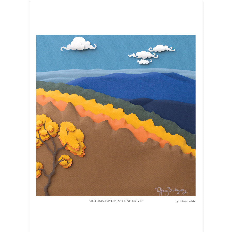Autumn Layers, Skyline Drive | fine art print