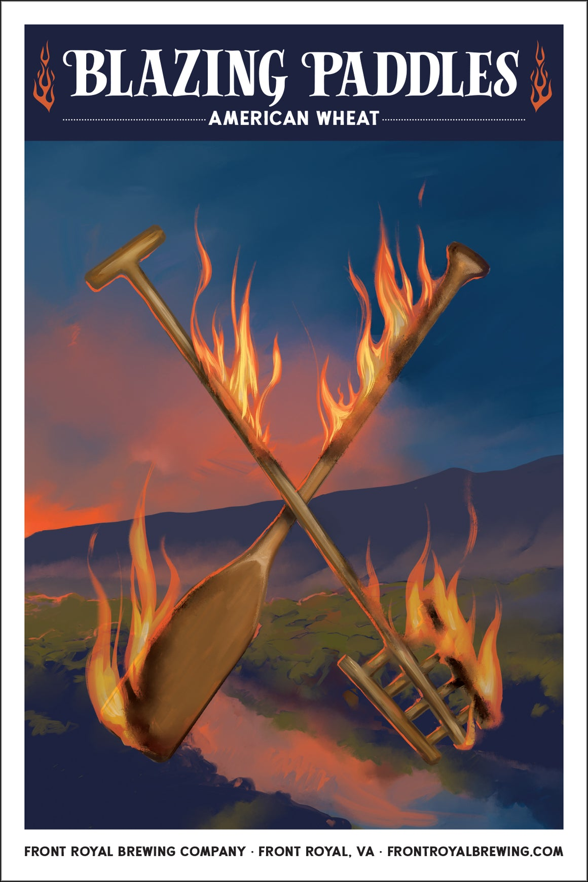 Blazing Paddles Art Print