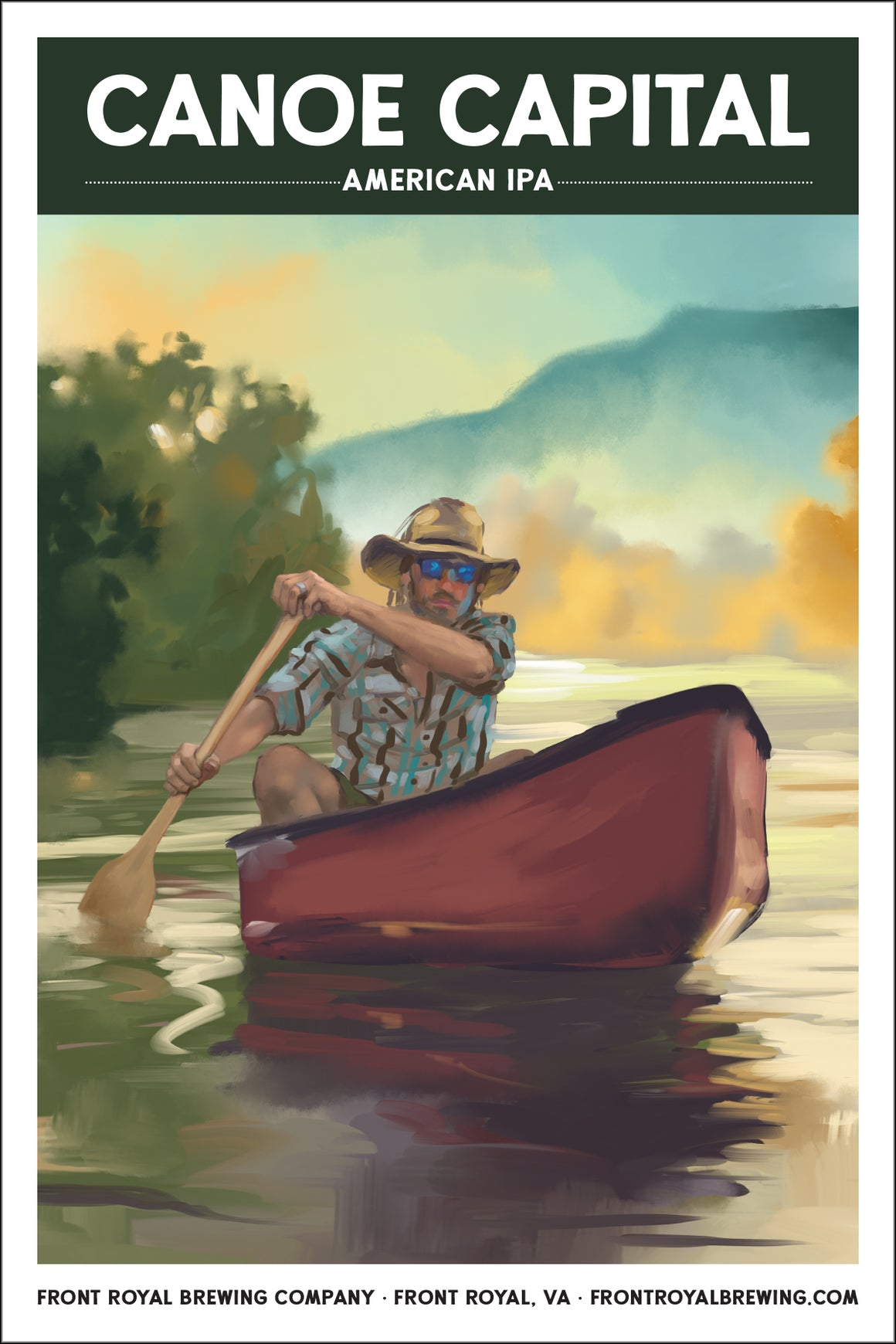 Canoe Capital Art Print