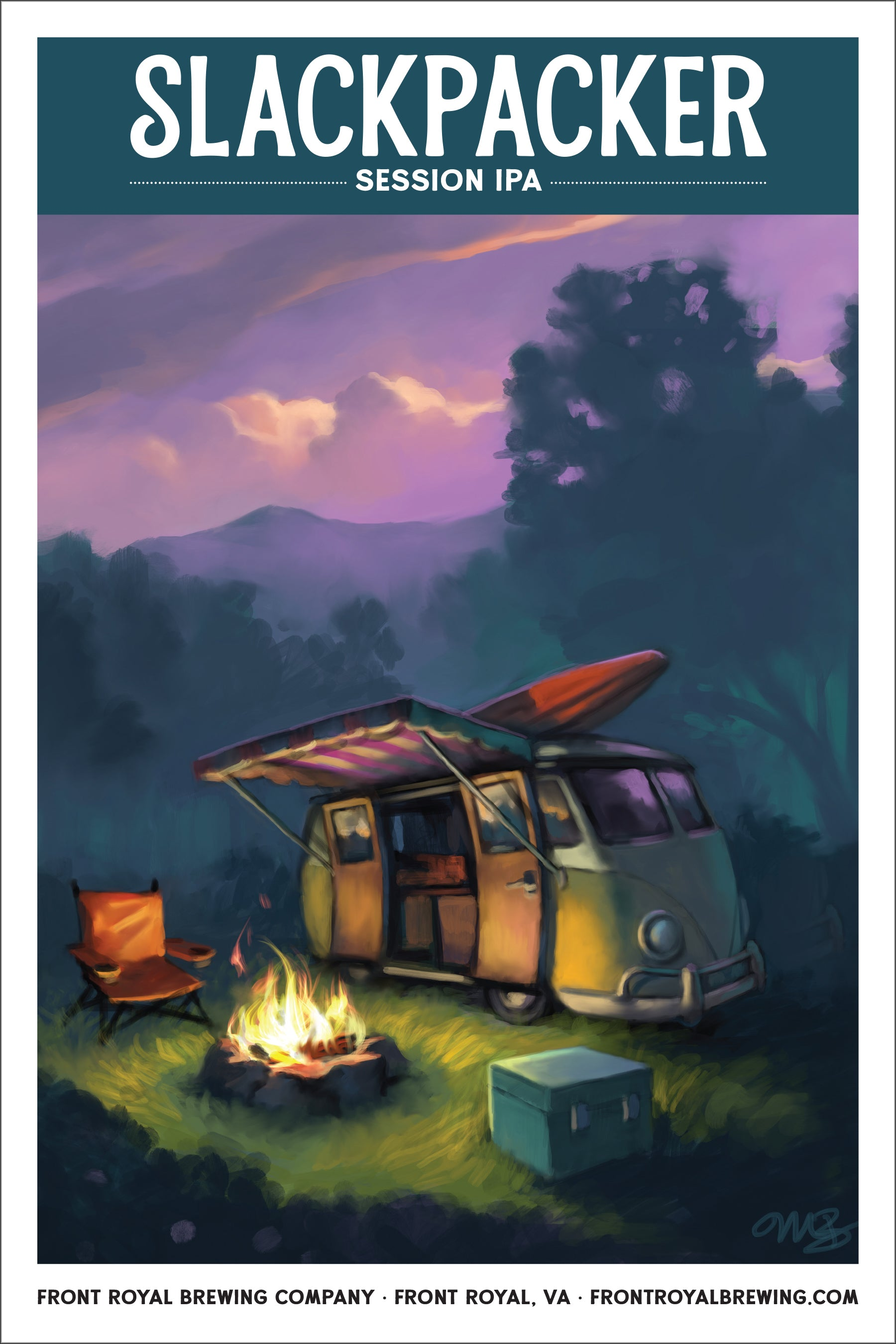Slackpacker Art Print