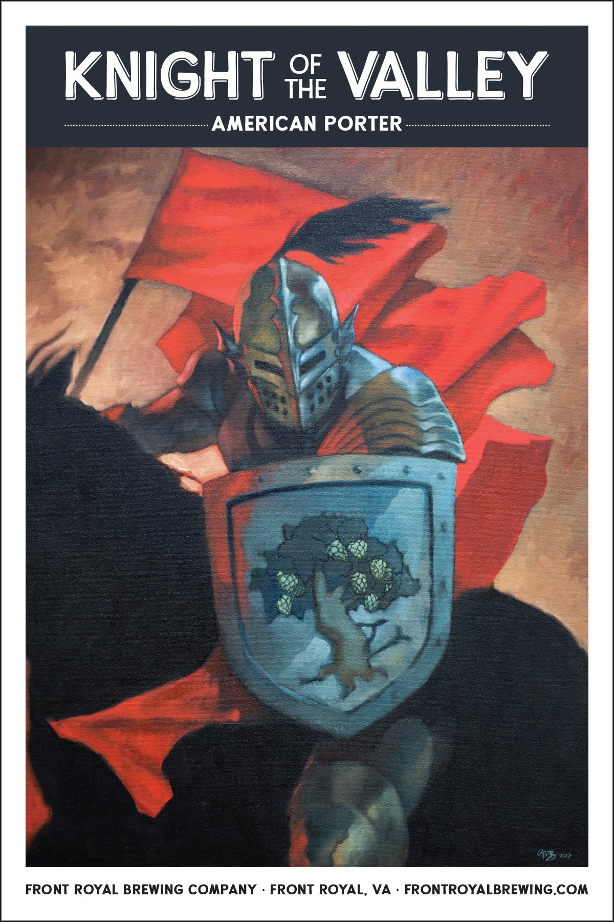 Knight of the Valley Art Print