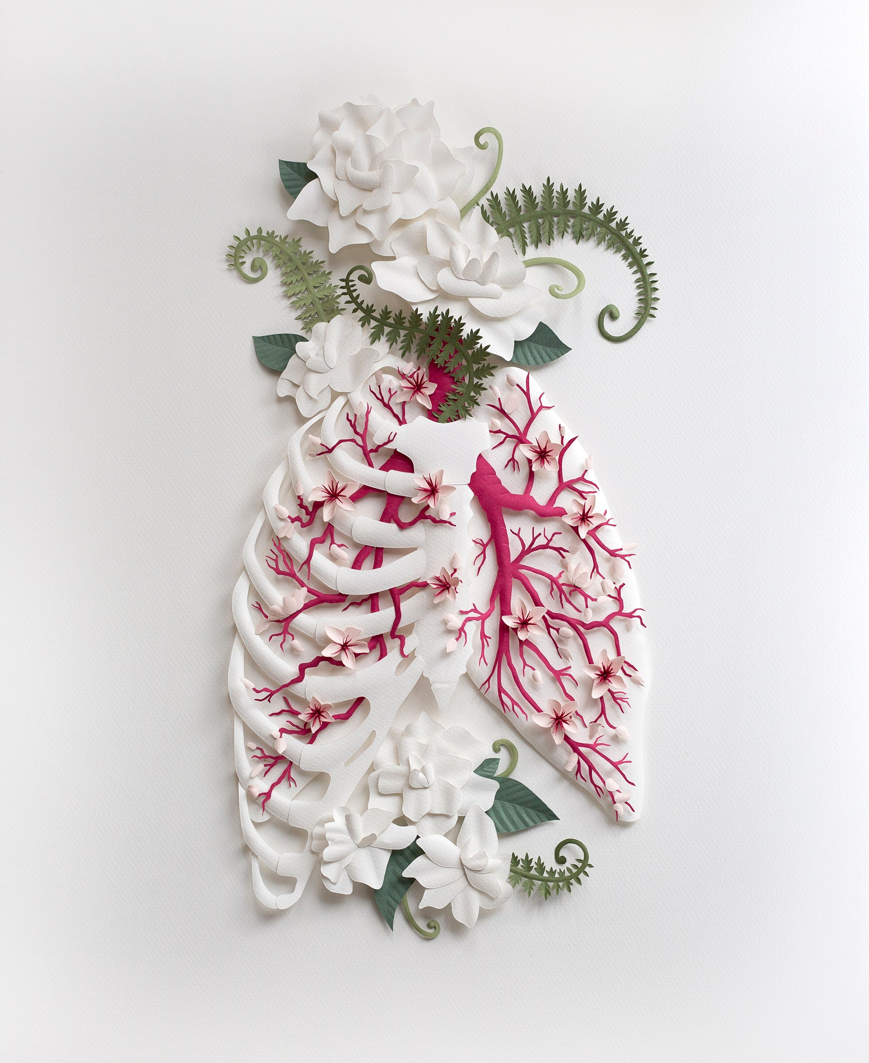 Deep Breathing | original paper sculpture