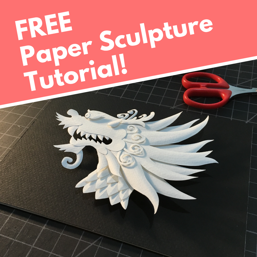 FREE Paper Sculpture Tutorial