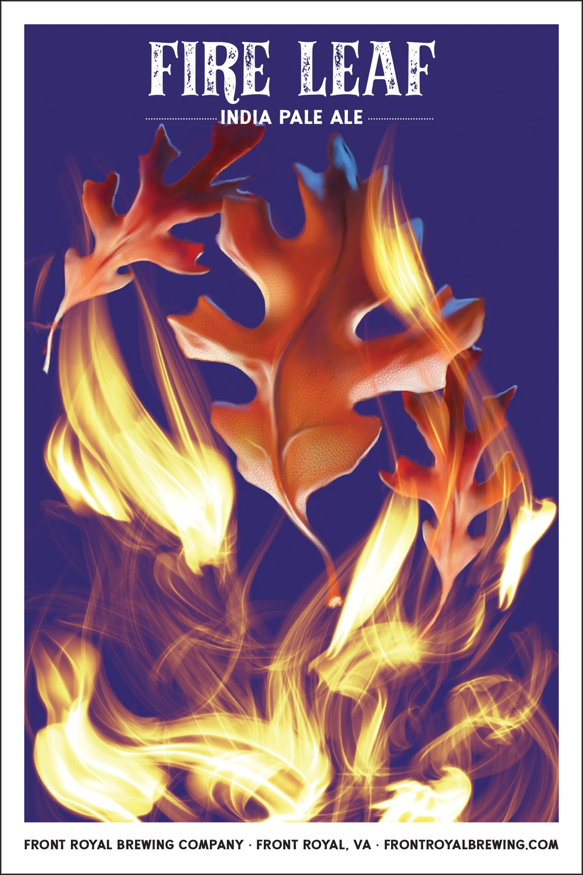 Fire Leaf Art Print