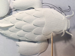 Digital Download: Create Your Own Paper Sculpture Koi Fish