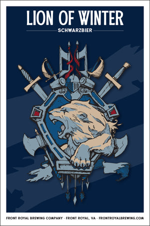 Lion of Winter Art Print
