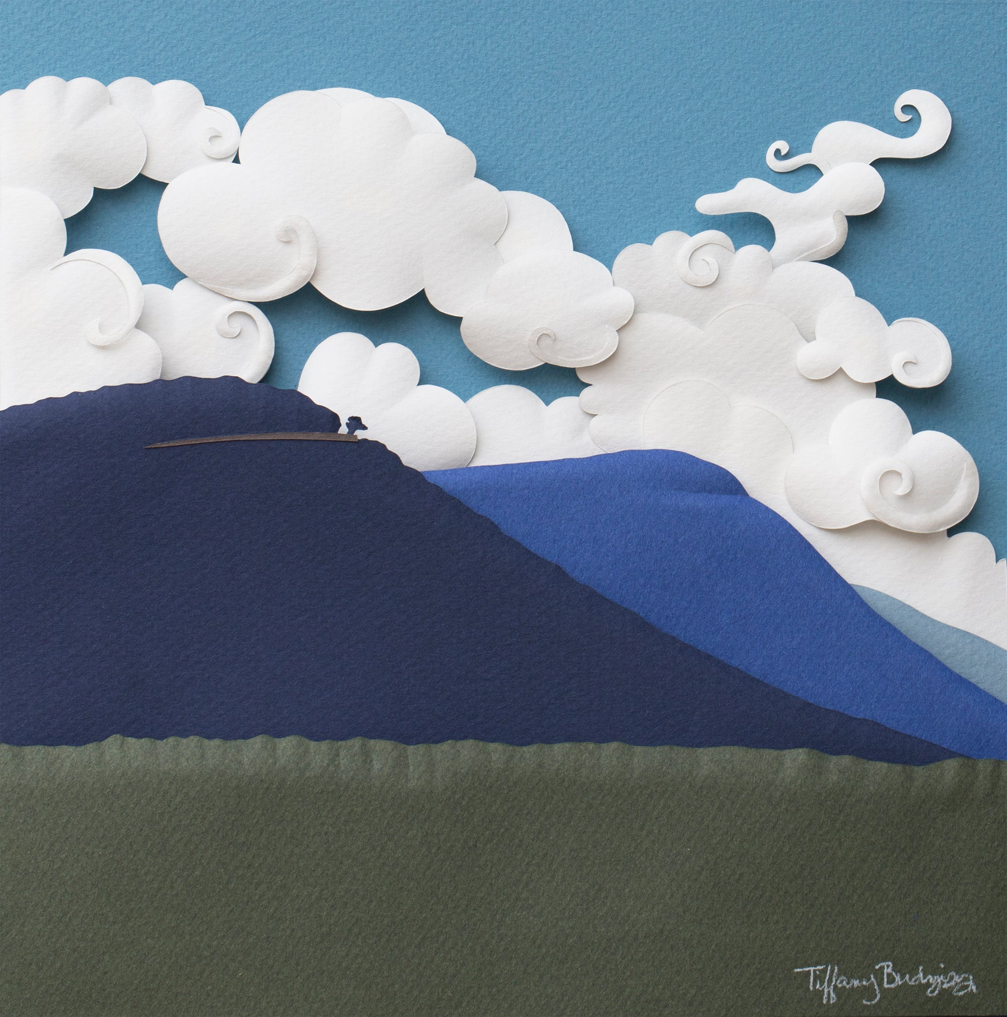 Lone Tree, Skyline Drive | original paper sculpture