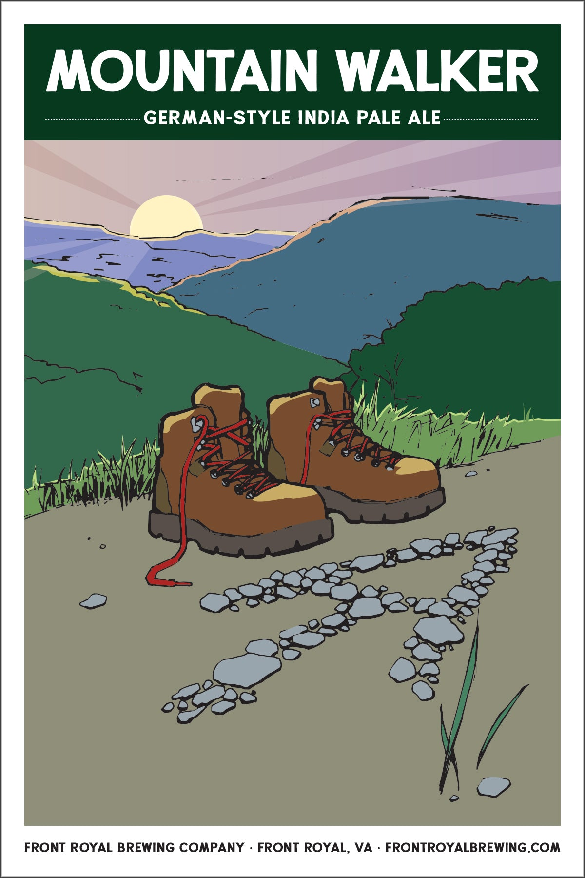 Mountain Walker Art Print