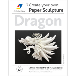 Create Your Own Paper Sculpture: Dragon Pattern