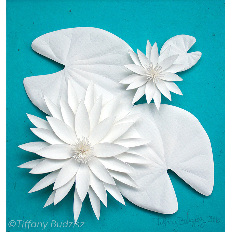Water Lilies Duo | original paper sculpture
