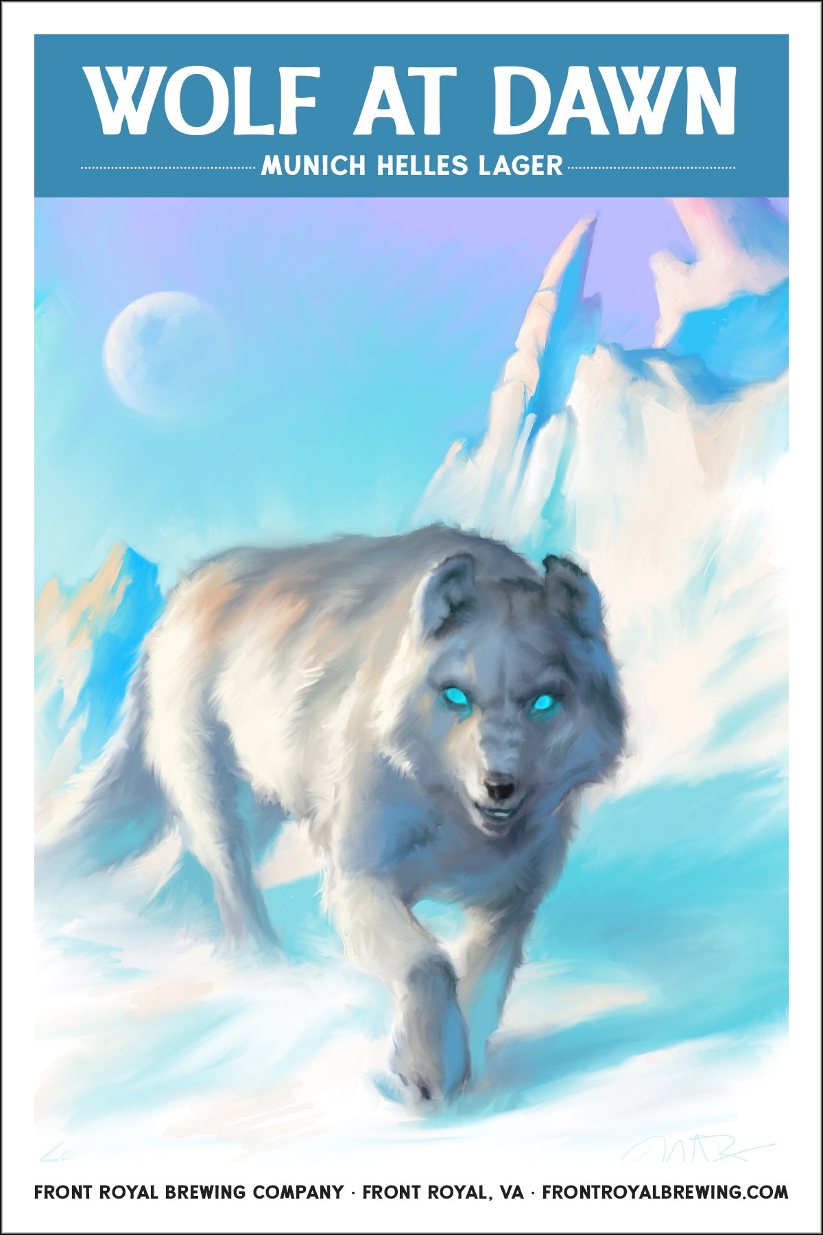 Wolf at Dawn Art Print