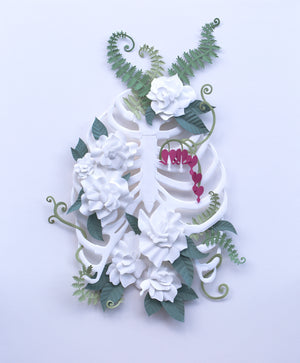 Bleeding Heart | original paper sculpture