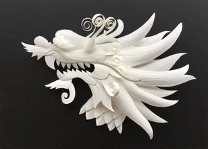 Digital Download: Create Your Own Paper Sculpture Dragon