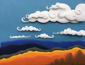 Blue Ridge Autumn | original paper sculpture