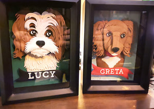 Custom Paper Sculpture Pet Portrait