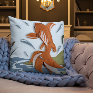 Fish out of Water Pillow