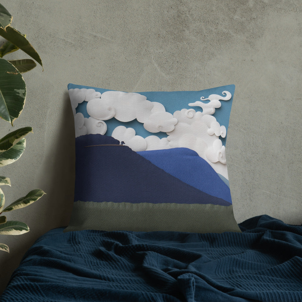 Lone Tree Skyline Drive Pillow Art In The Valley Llc