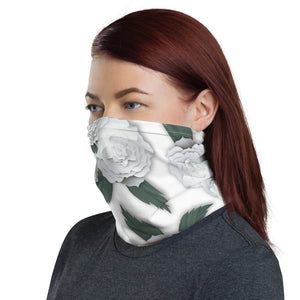 White Floral Neck Gaiter