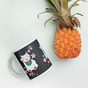 Cherry Blossoms (Lucky Cat) Mug