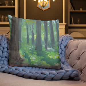 Springtime Forest Pillow