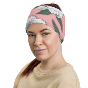 Blush and White Floral Neck Gaiter