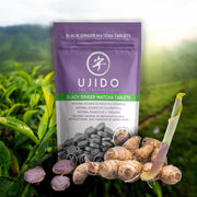 Black Ginger Matcha - 180 Tablets - Ujido - Japanese Matcha