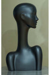 dark gray grey metallic elegant abstract Evie display head