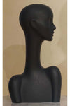 black elegant abstract Evie display head