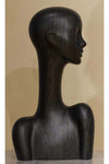 black wood floating finish elegant abstract Evie display head