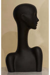 leather rough elegant abstract Evie display head