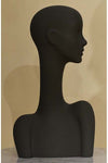 suede gray grey elegant abstract Evie display head