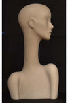 gray stone elegant abstract Evie display head