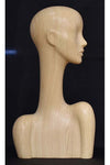 white wood floating finish elegant abstract Evie display head