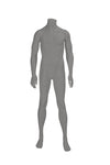 grey headless male mannequin with relaxed arms and legs