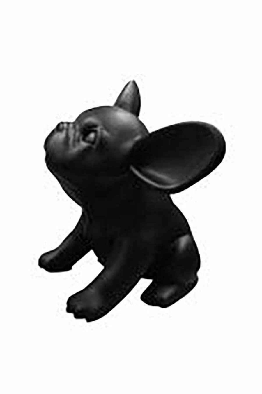 genesis black sitting French bulldog puppy mannequin