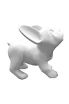 pure white standing French bulldog puppy mannequin