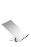 chrome sloped rectangular shirt stand with square base
