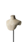black lycra covered headless female tailor bust form