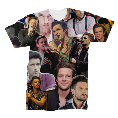 Brandon Flowers The Killers 3D Collage Face T-Shirt