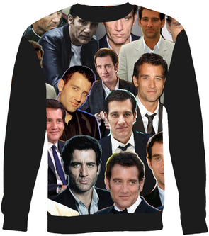 Clive Owen Photo Collage Sweatshirt