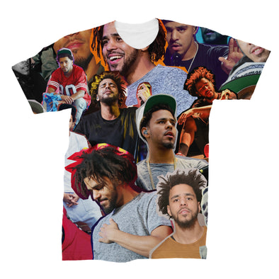 J Cole 3D Collage Face T-Shirt