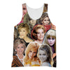 Jane Fonda 3D Collage Face T-Shirt