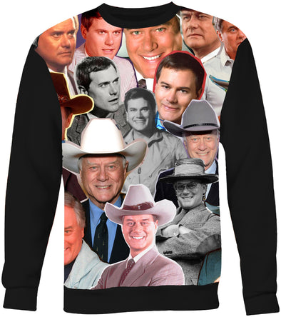 Larry Hagman Photo Collage Sweatshirt