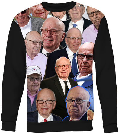 Rupert Murdoch Photo Collage Sweatshirt