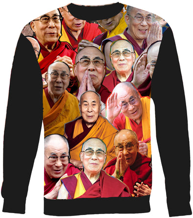 Dalai Lama Photo Collage Sweatshirt