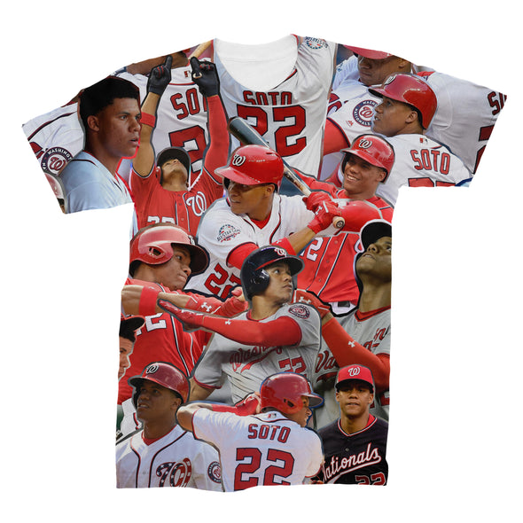 Juan Soto 3D Collage Face T-Shirt