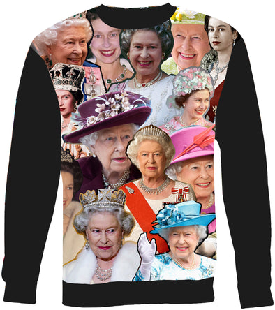 Queen Elizabeth II Photo Collage Sweatshirt